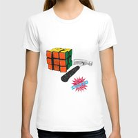 solved ! Womens Fitted Tee White SMALL