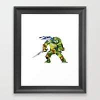 Katana Turtle Framed Art Print