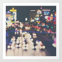 Las Vegas ... the neon town!  Art Print
