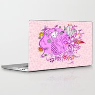 Pen And Ink Colorful Cat… Laptop & iPad Skin