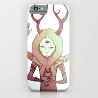 iPhone & iPod Case featuring deer lion by mloyan