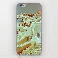 Santorini in Raspberry and Blue II: shot using Revolog 600nm special effects film iPhone & iPod Skin