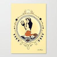 Mermaid Queen Canvas Print
