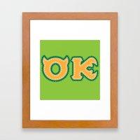 Monster University Fraternity : Oozma Kappa Framed Art Print
