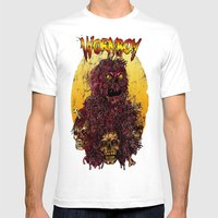 WORM BOY Mens Fitted Tee White SMALL