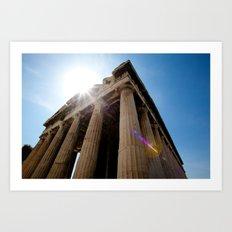 Temple of Hephaestus Art Print
