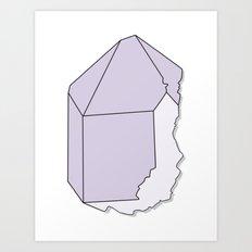 Amethyst Quartz Art Print