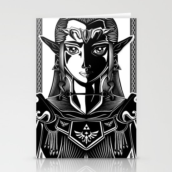 Legend of Zelda Princess Zelda Line Work  Stationery Card