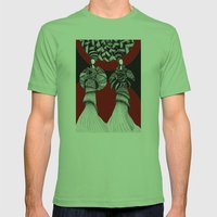 African Mens Fitted Tee Grass SMALL