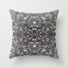 Sparkly Colourful Silver… Throw Pillow