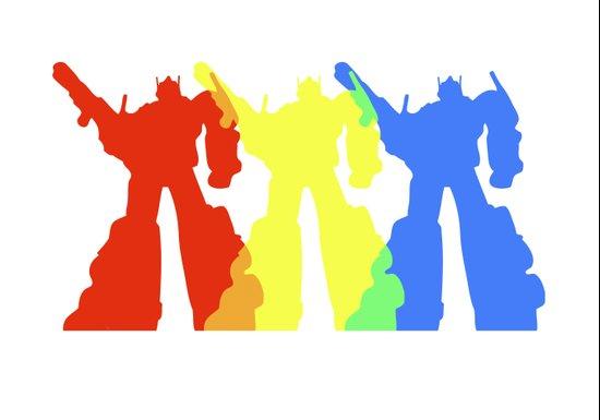 Optimus Prime Colors Art Print