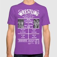 #17-B Memphis Wrestling … Mens Fitted Tee Ultraviolet SMALL