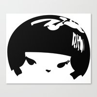 Kokeshi Head Logo Design Canvas Print