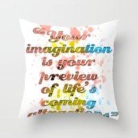 Imagination / Albert Ein… Throw Pillow
