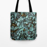 Patina Leaves Tote Bag