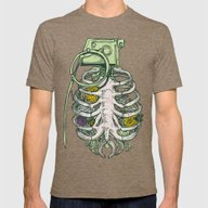Grenade Garden Mens Fitted Tee Tri-Coffee SMALL