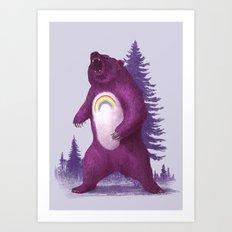 Scare Bear Art Print