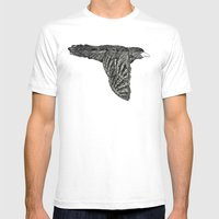 Escaped Bird Mens Fitted Tee White SMALL