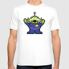 Pixel Story SMALL White Mens Fitted Tee