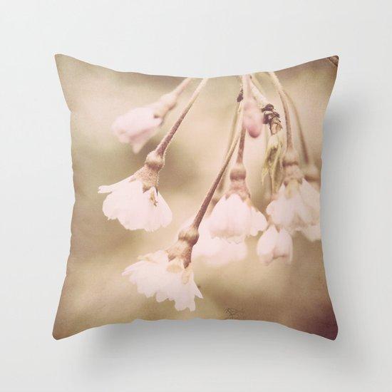 Delicate Spring Throw Pillow