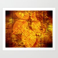 Autumn Memories In Orang… Art Print
