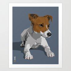 Jack Russell Terrier Dog Art Print