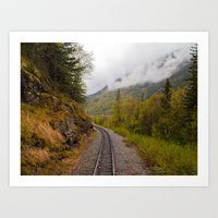 The ride to dusk Art Print