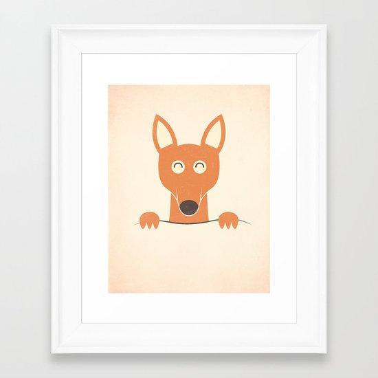 Pocket Kangaroo Framed Art Print