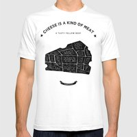 Cheese Is A Kind Of Meat Mens Fitted Tee White SMALL