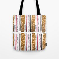 Make Do And Mend Pattern Tote Bag
