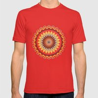 Sun Mens Fitted Tee Red SMALL