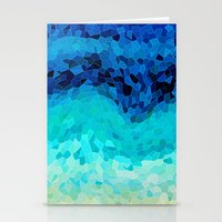 waves Stationery Cards featuring INVITE TO BLUE by Catspaws