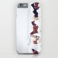 couple iPhone & iPod Cases featuring Winter Horseland by Kevin Russ