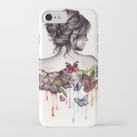 butterfly iPhone & iPod Cases featuring Butterfly Effect by KatePowellArt
