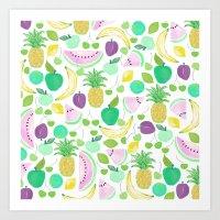 Fruit Punch Retro 2 Art Print
