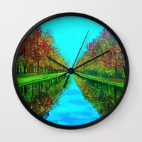 Fall Reflection Wall Clock