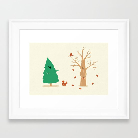 Cold And Naked Framed Art Print