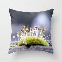 Maco Photography Moss Wa… Throw Pillow