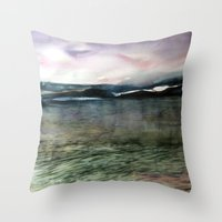 Alaska Sky and Sea Throw Pillow