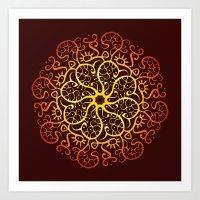 Trepadora Roja Art Print