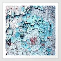 Blue Rust Art Print