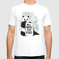 Will Sneeze For Food Mens Fitted Tee White SMALL