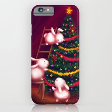 Chubby bunnies decorate the tree iPhone 6s Slim Case