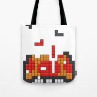 Super Mario Mushroom Tet… Tote Bag