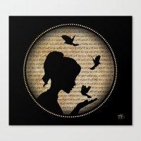 L'oiseau Qui Chante Canvas Print