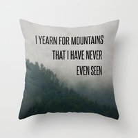 Mountain Yearning  Throw Pillow