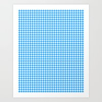 Picnic Pals Gingham In B… Art Print