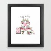 Happy Birthday Party Framed Art Print