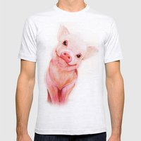 Mr. Piglet Mens Fitted Tee Ash Grey SMALL