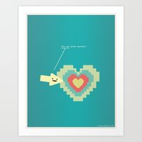 You Are Pixel Perfect.  Art Print